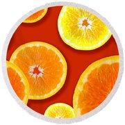 Tangerine Tango Round Beach Towel