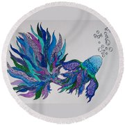 Tangled Fish 4 Round Beach Towel