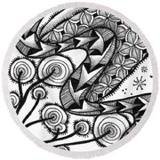 Tangled Serpent Round Beach Towel