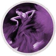 Tango Dancer 01 Round Beach Towel by Gull G