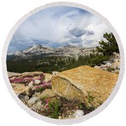 Tanya Overlook  Round Beach Towel