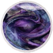 Tanzanite Tornado Round Beach Towel by Tlynn Brentnall