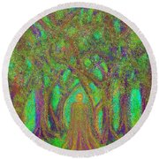 Tao Forest King Round Beach Towel