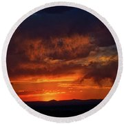 Taos Virga Sunset Round Beach Towel