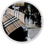 Round Beach Towel featuring the photograph Tap Me On The Shoulder  by Empty Wall