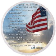 Taps Words Round Beach Towel