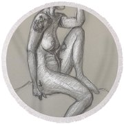 Tara Side View Round Beach Towel