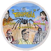Tarantula - 1955 Lobby Card That Never Was Round Beach Towel