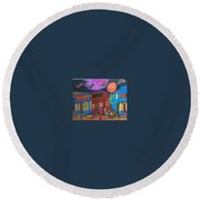 Garbell's Lunch And Confectionery Round Beach Towel by Jonathon Hansen