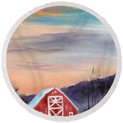 Target Range Barn Round Beach Towel by Larry Hamilton