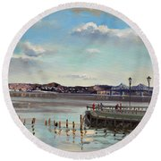 Tarrytown View Round Beach Towel