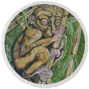 Tarsier Round Beach Towel