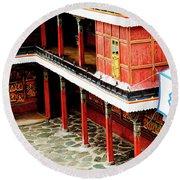 Tashilhunpo Monastery Shigatse Tibet Artmif.lv Round Beach Towel
