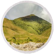 Tasmanian Mountains Round Beach Towel
