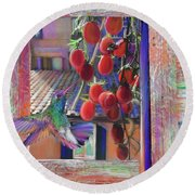 Taste Of Italy  Round Beach Towel by Julianne Ososke