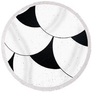 Round Beach Towel featuring the photograph Tate Style by Rebecca Harman
