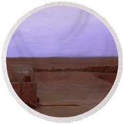 Tatooine Sunset Round Beach Towel
