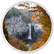 Taughannock Autumn Round Beach Towel
