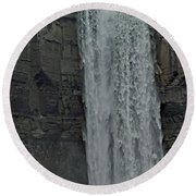 Taughannock Falls State Park Round Beach Towel by Joseph Yarbrough