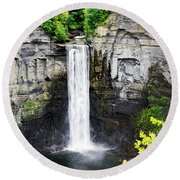 Taughannock Falls View From The Top Round Beach Towel