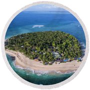 Tavarua Aerial Round Beach Towel by Brad Scott