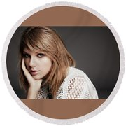 Taylor Swift 20 Round Beach Towel
