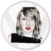 Taylor Swift Round Beach Towel