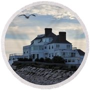Taylor Swift Round Beach Towel by L Mainville