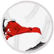 Taylor Swift Red 01a Round Beach Towel by Brian Reaves