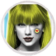 Taylor Swift  Taylor Sweet Round Beach Towel by Dr8Love