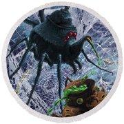 Tea Set Monster Spiders Fantasy Round Beach Towel