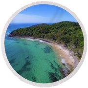 Round Beach Towel featuring the photograph Tea Tree Bay At Noosa by Keiran Lusk