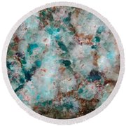 Teal Chips Round Beach Towel