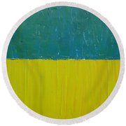 Teal Olive Round Beach Towel by Michelle Calkins