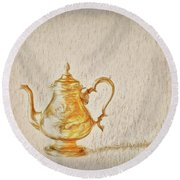 Teapot  ... Round Beach Towel