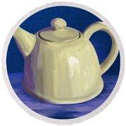 Teapot Round Beach Towel