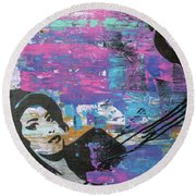 Round Beach Towel featuring the painting Tears Dry On Thier Own by Jayime Jean
