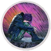 Tears In The Rain Round Beach Towel