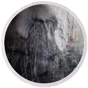 Tears Of Ice Round Beach Towel by Gun Legler