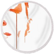 Tears Of Pain Round Beach Towel by ISAW Gallery