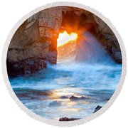 Tears Of The Sun Round Beach Towel