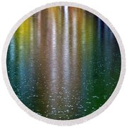 Round Beach Towel featuring the photograph Tears On A Rainbow by John Haldane