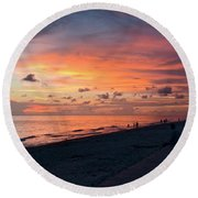 Technicolor Sky Round Beach Towel