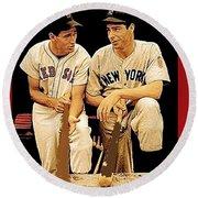 Ted Williams Joe Dimaggio All Star Game 1946 Round Beach Towel