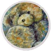 Teddy Bear Round Beach Towel