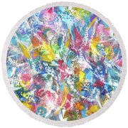 Teeming Round Beach Towel