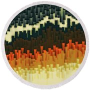 Teeth 030517 Round Beach Towel