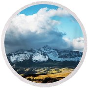 Telluride Colorado In The Fall Round Beach Towel