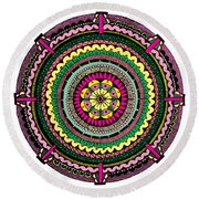 Temblor Round Beach Towel by Elizabeth Davis