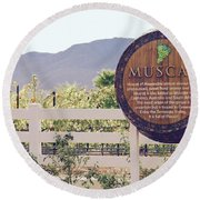 Temecula Muscat Round Beach Towel by Suzanne Oesterling
